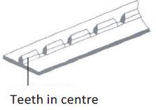 ffset Perforation Rules Teeth at Centre